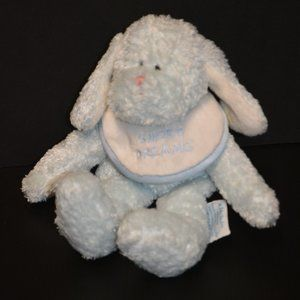 Baby Boyds Plush Rattle Lovey Blue Bunny Soft Toy